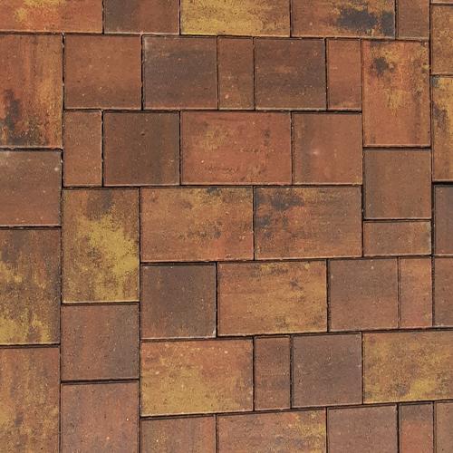 Тротуарная плитка Плаза Колор Микс (Color Mix), цвет краски осени