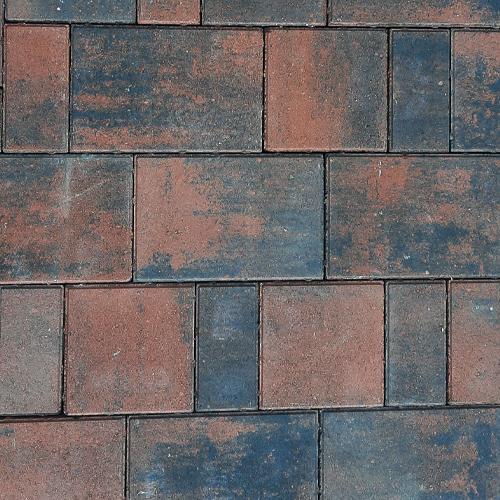Тротуарная плитка Плаза Колор Микс (Color Mix), цвет вулкан