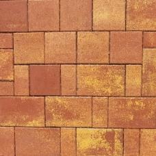 Тротуарная плитка Плаза Колор Микс (Color Mix), цвет охра