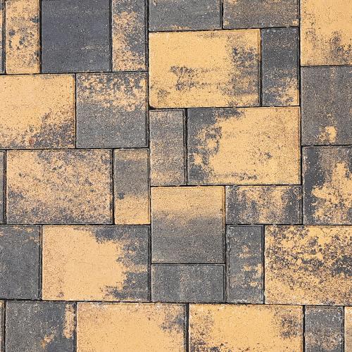 Тротуарная плитка Плаза Колор Микс (Color Mix), цвет сахара
