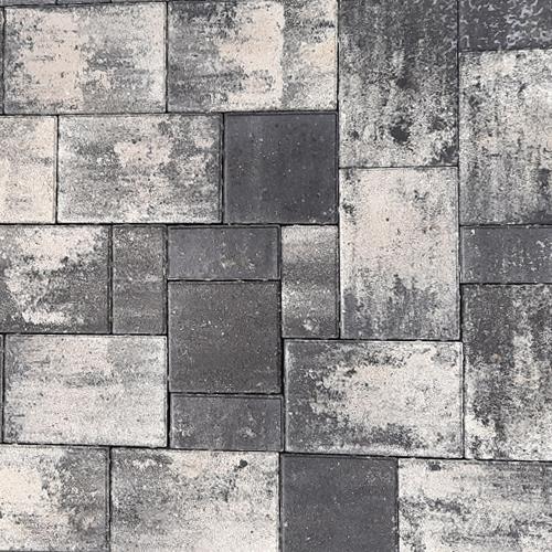 Тротуарная плитка Плаза Колор Микс (Color Mix), цвет зебра
