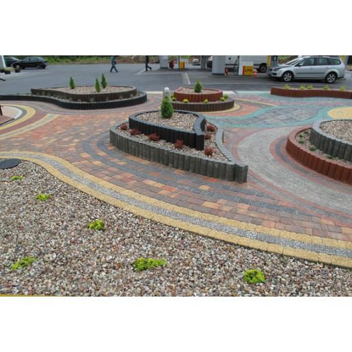 Nostalit  меланж радиусный - тротуарная плитка Патер (Pater)