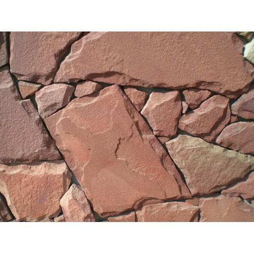 Песчаник терракотово-красный толщ.1.5 см для облицовки