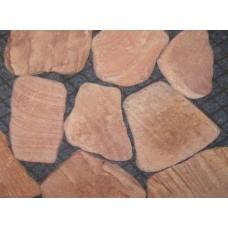 Песчаник Терракотово-красный обвалованный толщ.1,5-2 см