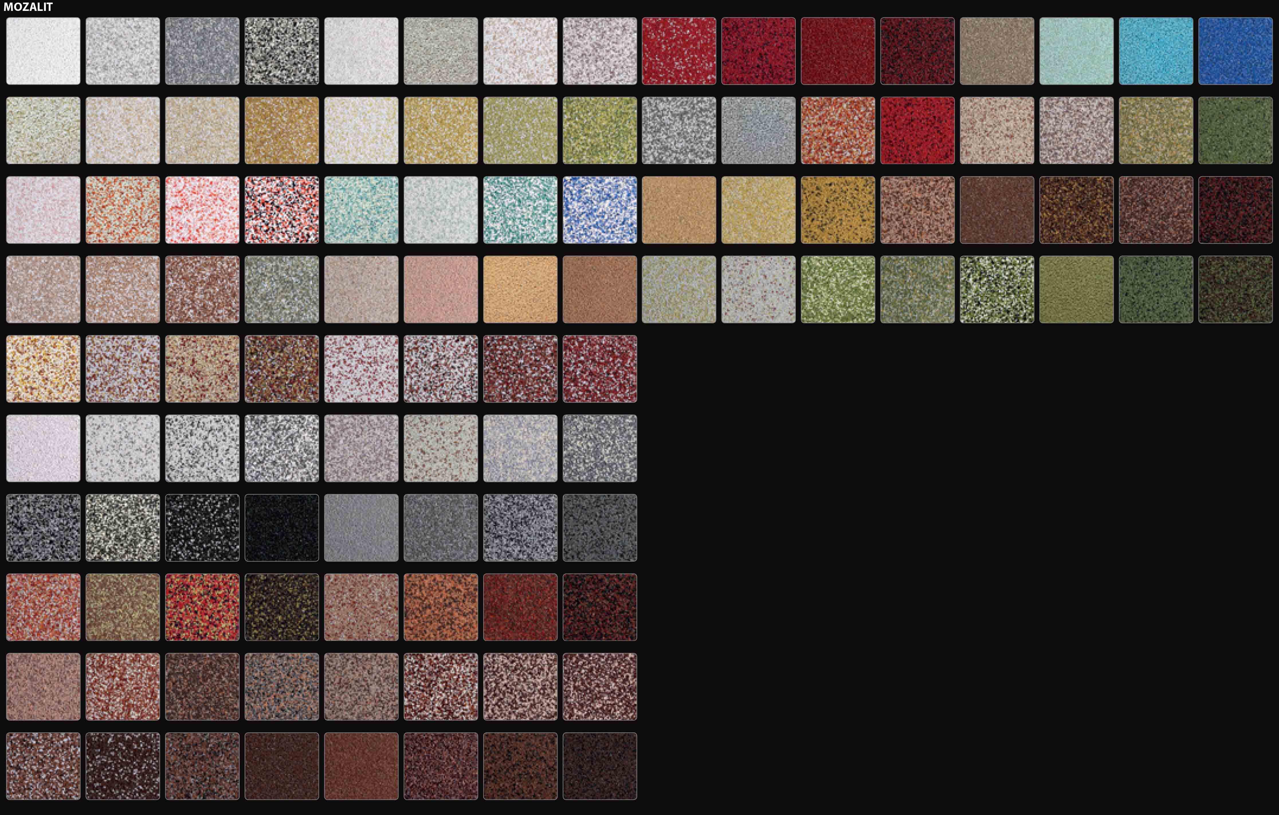 Цветовая палитра. Mozalit